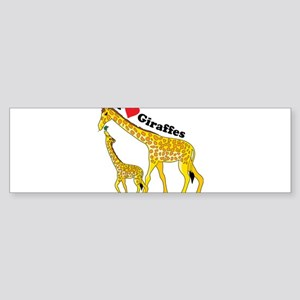 I Love Giraffes Sticker (Bumper 10 pk)