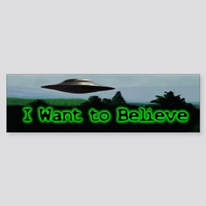 I Want To Believe Bumper Sticker (10 pk)