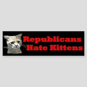 Republicans Hate Kittens Sticker (Bumper 10 pk)
