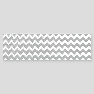 Chevrons White Lt Gray 5x7 Bumper Sticker