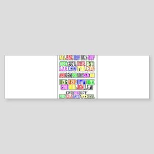 Airport Code1 Bumper Sticker (10 pk)