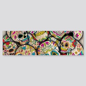 Sugar Skull Collage Bumper Sticker