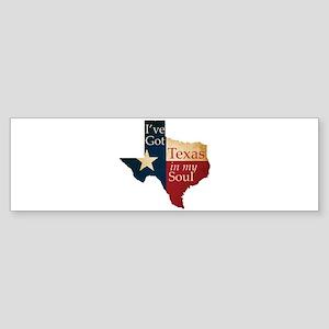 Texas in my Soul Sticker (Bumper 10 pk)