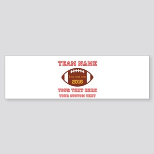 Football Personalized Bumper Sticker