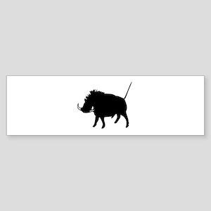 Wart Hog Bumper Sticker