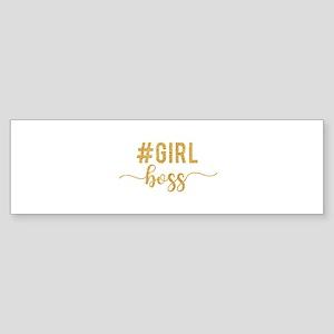 Girl Boss Gold Bumper Sticker