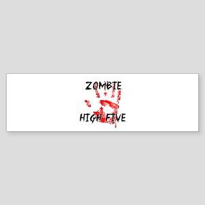 Zombie High Five Bumper Sticker