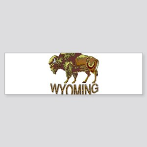 Wyoming state crest e3 Bumper Sticker