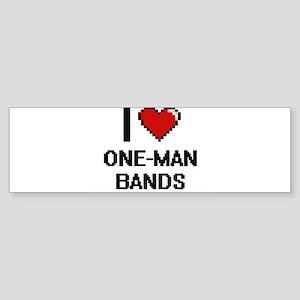 I love One-Man Bands digital design Bumper Sticker