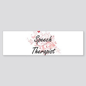 Speech Therapist Artistic Job Desig Bumper Sticker