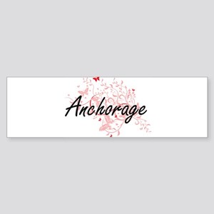 Anchorage Alaska City Artistic desi Bumper Sticker