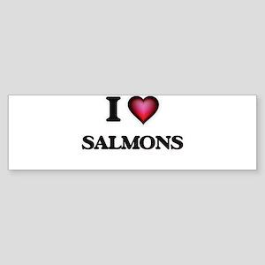 I Love Salmons Bumper Sticker