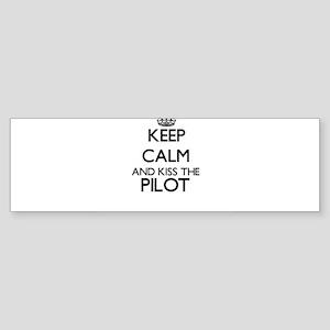 Keep calm and kiss the Pilot Bumper Sticker