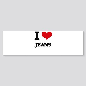 I Love Jeans Bumper Sticker