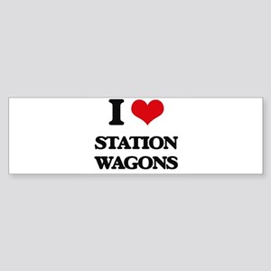 I love Station Wagons Bumper Sticker