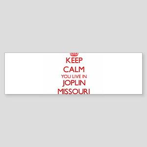 Keep calm you live in Joplin Missou Bumper Sticker