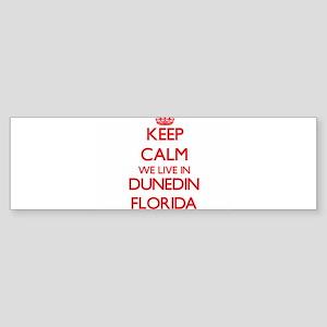 Keep calm we live in Dunedin Florid Bumper Sticker