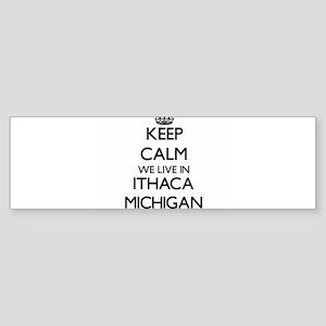Keep calm we live in Ithaca Michiga Bumper Sticker