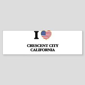I love Crescent City California USA Bumper Sticker