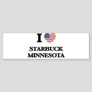 I love Starbuck Minnesota Bumper Sticker