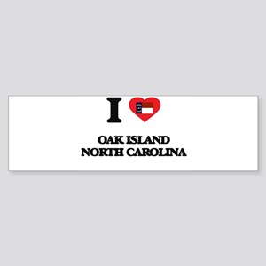 I love Oak Island North Carolina Bumper Sticker