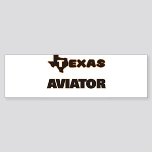 Texas Aviator Bumper Sticker
