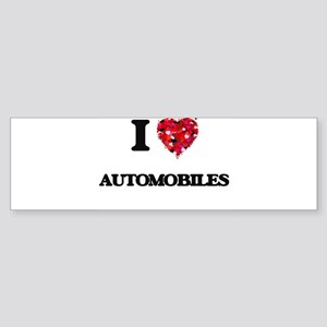 I Love Automobiles Bumper Sticker