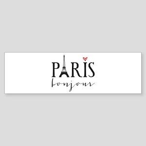 Paris bonjour Bumper Sticker