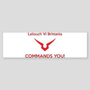 Lelouch COMMANDS YOU Bumper Sticker