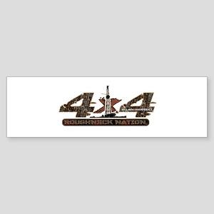 4 X 4 RIG UP CAMO Bumper Sticker