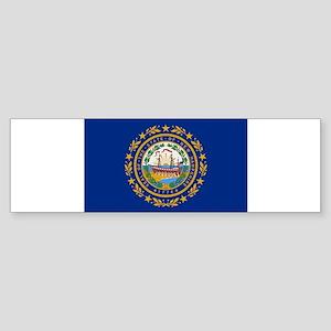Beloved New Hampshire Flag Mo Sticker (Bumper 10 p