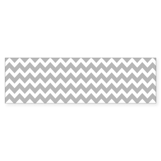 Chevrons White Lt Gray 5x7