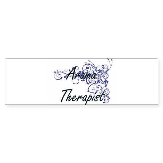 Aroma Therapist Artistic Job Design with Flowers