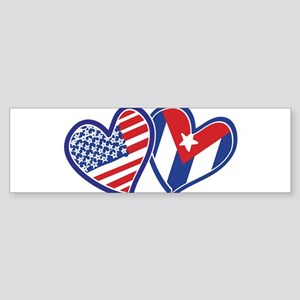 USA and Cuba Patriotic Flag Sticker (Bumper 50 pk)