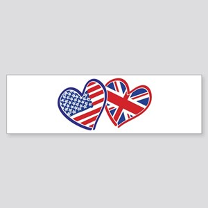 Patriotic Peace Sign and USA Flag Sticker (Bumper