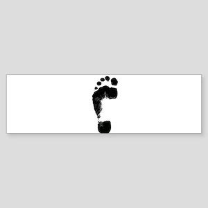 footprint 5 Bumper Sticker