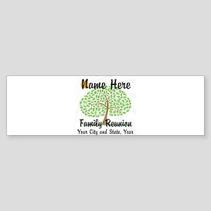 Customizable Family Reunion Tree Bumper Sticker