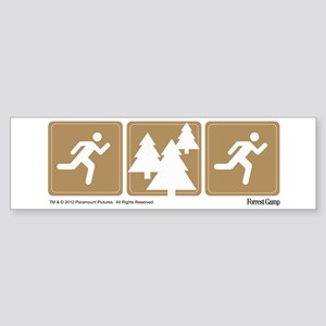 Run Forrest Run Bumper Sticker