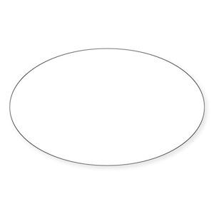Oval 110108660 CafePress Four Corners Sticker Sticker