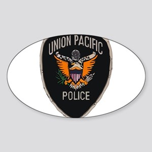 Union Pacific Police patch Sticker (Oval 10 pk)