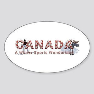 Canada Winter Sports Sticker (Oval 10 pk)