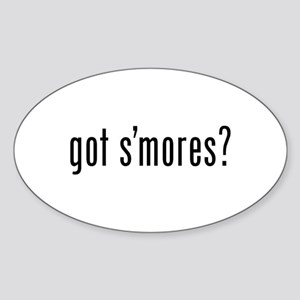 got s'mores? Oval Sticker (10 pk)