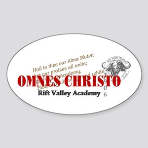 RV Omnus Christo Oval Sticker (10 pk)