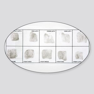 Fingerprint record card - Sticker (Oval 10 pk)
