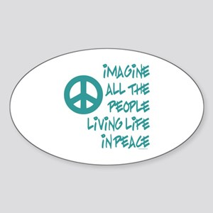 Imagine Peace Oval Sticker (10 pk)