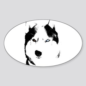 Husky Gifts Bi-Eye Husky Shirts & Gift Sticker