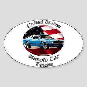 Ford Mustang Boss 302 Sticker (Oval 10 pk)