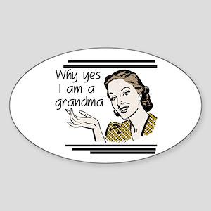 Retro Grandma Sticker (Oval 10 pk)