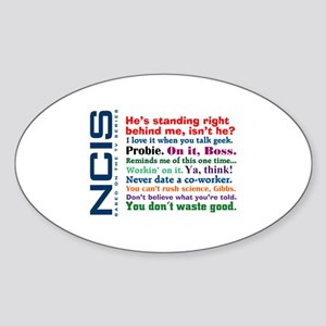 NCIS Quotes Sticker (Oval 10 pk)
