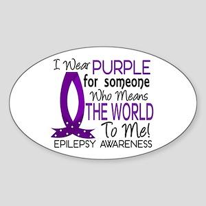 Means World To Me 1 Epilepsy Shirts Sticker (Oval